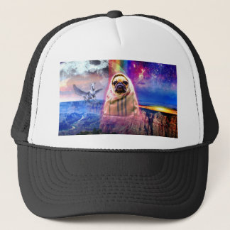 Space pug, I come in peace dog Trucker Hat