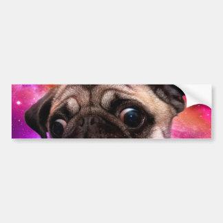 space pug - pug food - pug cookie bumper sticker