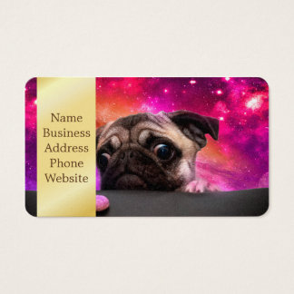 space pug - pug food - pug cookie business card