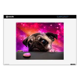 space pug - pug food - pug cookie decals for laptops