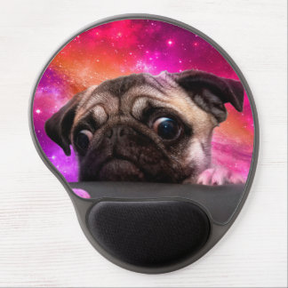 space pug - pug food - pug cookie gel mouse pad