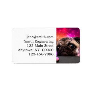 space pug - pug food - pug cookie label