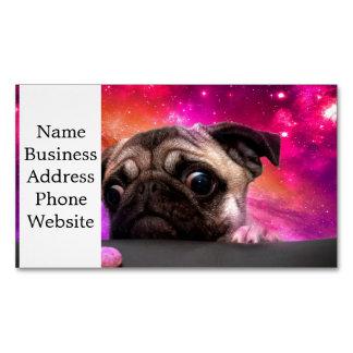 space pug - pug food - pug cookie magnetic business card