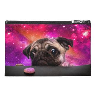 space pug - pug food - pug cookie travel accessory bag