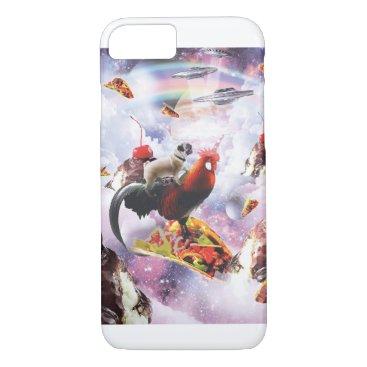 Space Pug Riding Chicken - Ice Cream & Taco iPhone 8/7 Case
