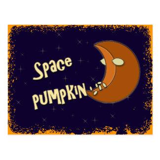 space pumpkin post card