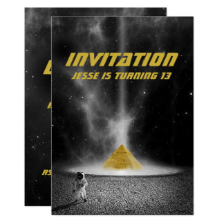 Space Pyramid with Astronaut Invitations