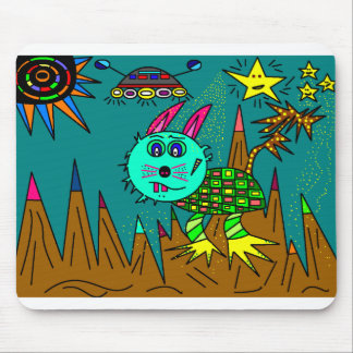 Space Rabbit 3000 Mouse Pad