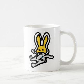 Space rabbit (floating & rocket) coffee mug