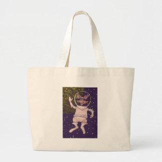 Space Raccoon Large Tote Bag