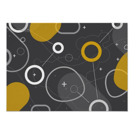 Space Race Abstract Poster