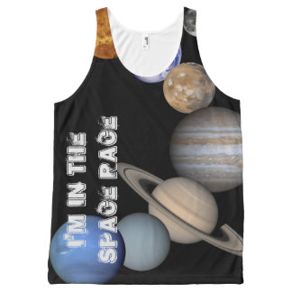 Space Race Clothing Trend - Solar System Planets All-Over-Print Tank Top