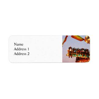 Space Racer Closeup Return Address Label