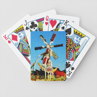 Space Racer in Distance Bicycle Playing Cards