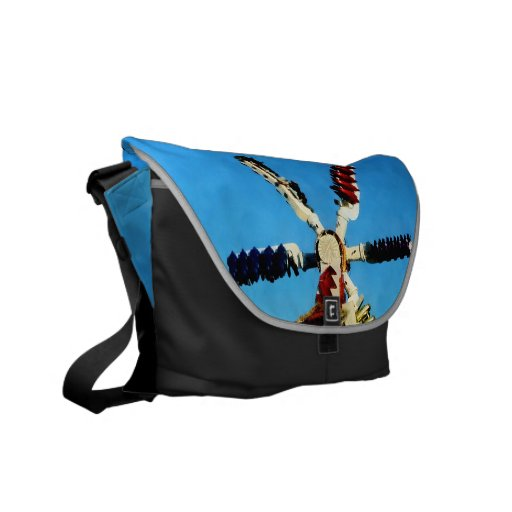Space Racer in Distance Messenger Bags