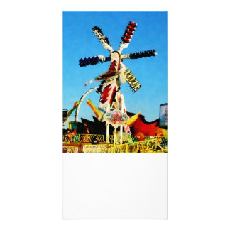 Space Racer in Distance Personalized Photo Card