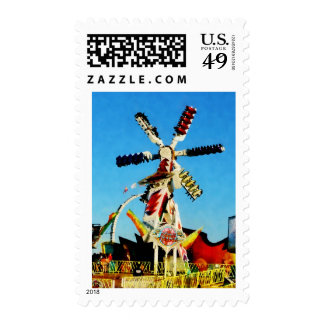 Space Racer in Distance Postage