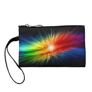 Space Rainbow background Coin Purse