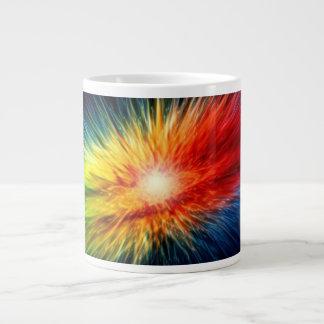 Space Rainbow background Giant Coffee Mug