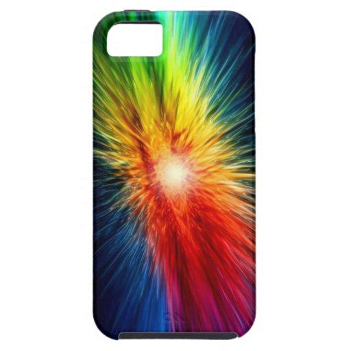 Space Rainbow background iPhone 5 Case