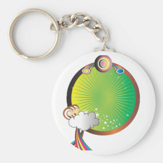Space Rainbow Basic Round Button Keychain