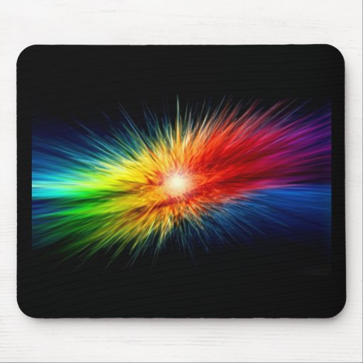 Space Rainbow Mouse Pad