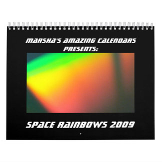 Space Rainbows 2009 Calendar
