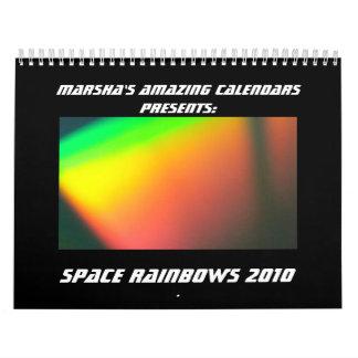 Space Rainbows 2010 Calendar