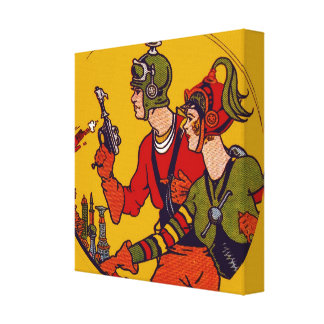 Space Ray Gun Toy Vintage Comic Book Character Art Canvas Print