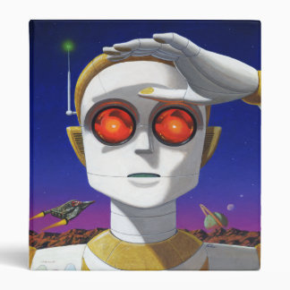Space Robot Binder with Your Name