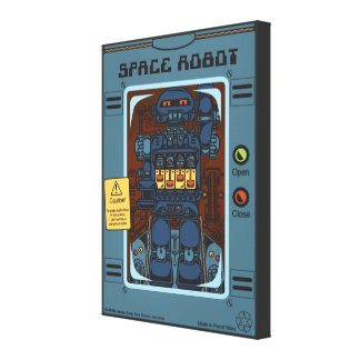 Space Robot Box Canvas Print