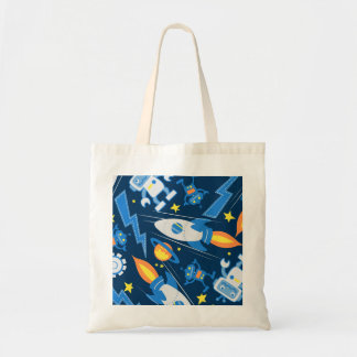 Space robot tote bag