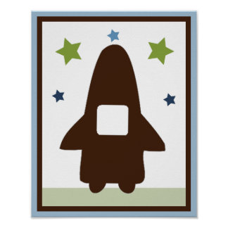Space Rocket 3 Wall Art Poster Print