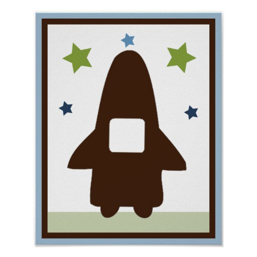 Space Rocket 3 Wall Art Poster/Print