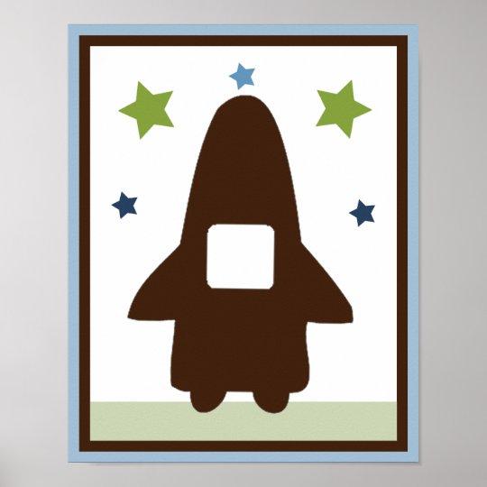 Space Rocket 3 Wall Art Poster/Print