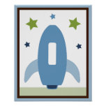 Space Rocket 4 Wall Art Poster/Print