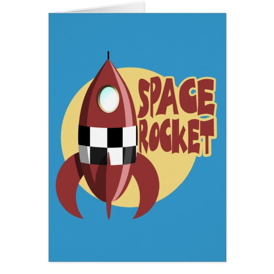 Space Rocket Card