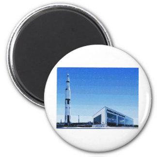 Space & Rocket Center of Huntsville, Alabama 2 Inch Round Magnet