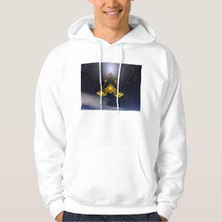 Space Rocket In Flight Hooded Sweatshirt
