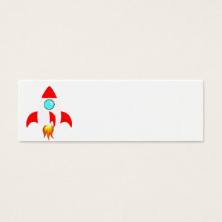 Space Rocket Mini Business Card