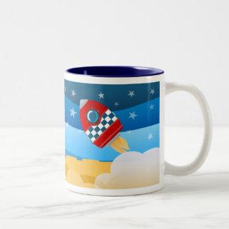 Space rocket - mug