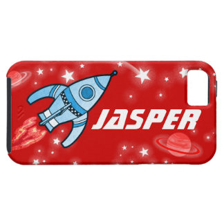 Space rocket red name iphone 5 case