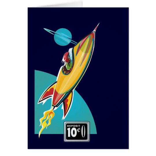 Space Rocket Ride Card