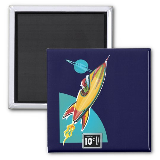 Space Rocket Ride Magnet
