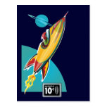 Space Rocket Ride Post Card