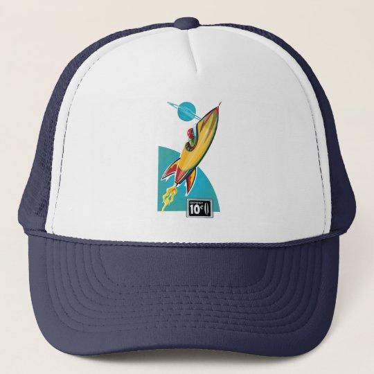 Space Rocket Ride Trucker Hat