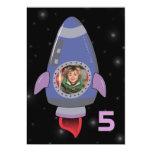 Space Rocket Ship Boys Birthday Party Invite