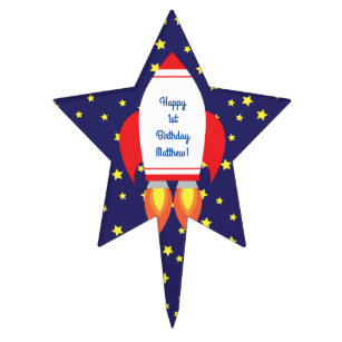 Outer Space Cake Toppers | Zazzle