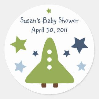 Space Rocket & Star Stickers/Labels/Envelope Seals