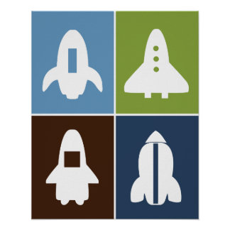 Space Rockets #2 Set of 4 Posters in One!